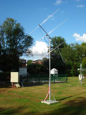 Crossed yagi antennas in Dourbes